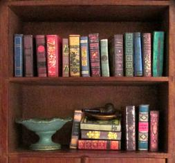 21 VINTAGE STYLE Miniature Books Dollhouse 1:12 Scale Fill B