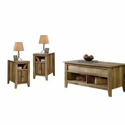 3 Piece Coffee Table Set with Coffee Table and Set of 2 End