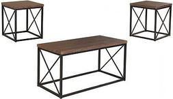 3 Piece Occasional Rectangular Coffee Table and Square End T