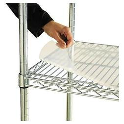 "Alera 36""X24"" Shelf Liners For Wire Shelving Units Clear 4Pk"