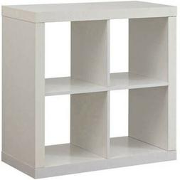 Better Homes and Gardens 4-Cube Organizer Metal Base Bookcas