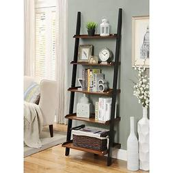 5 Shelves Storage Display French Country Bookshelf Ladder Da