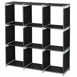 Multi Open Shelf Bookcase Bookshelf 3 Tier 9 Cube Home Stora