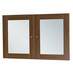 Unique Furniture A183-WAL Glass Doors for Hutches & Bookcase