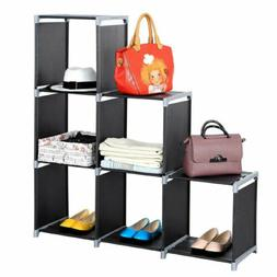 Adjustable 3 Tiers Shelf Bookcase Bookshelf Book Shelving St