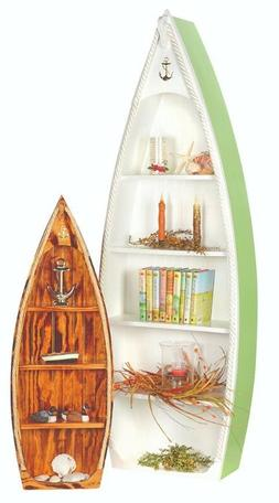 Amish-Made Rowboat Bookshelves - Available in 2 Sizes and 5