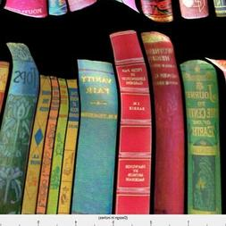Antique Books Vintage Bookshelf Victorian Fabric Printed By