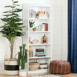 South Shore Axess 5-Shelf Bookcase Pure White