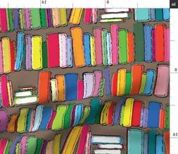Book Shelf Books Library Reading Librarian Fabric Printed by
