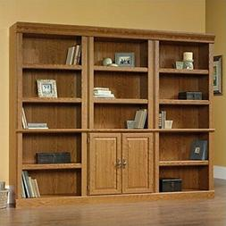 Bookcase With Doors Living Room Home Office Large Oak Booksh