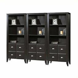 Bookcase With Doors Living Room Home Office Large Brown Book