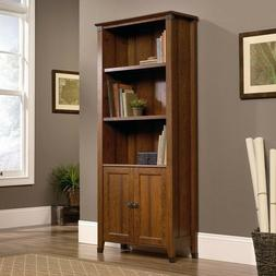 Bookcase With Doors Wall Wooden Tall Living Room Library Boo