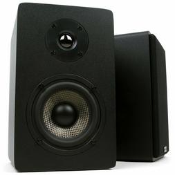 Bookshelf Speakers With 4-Inch Carbon Fiber Woofer and Silk