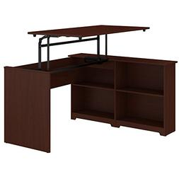 Bush Furniture Cabot 52W 3 Position Sit to Stand Corner Book