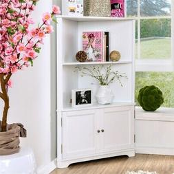 Furniture of America Cassidy Contemporary White 2-shelf Corn