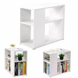 Chair Side Table White Wooden End Shelf Living Room Furnitur