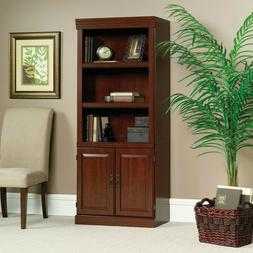 """71"""" Tall Library With Doors Bookshelf Storage Cabinet Displa"""