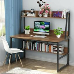Computer Desk With Bookshelf 47-inch Home Office Desk Space-