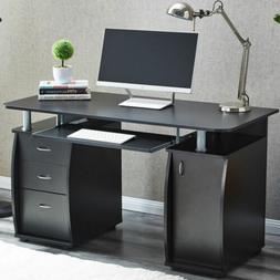 Computer Study Desk Laptop Table Writing Workstation W/Books