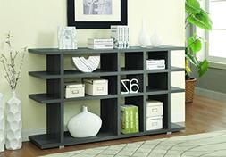 New Contemporary Weathered Grey Bookcase 15 shelves Bookshel