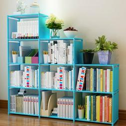 4 Tier 9-Shelf Bookcase Storage Shelving Book Wide Bookshelf