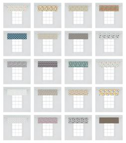 doodle design window valance curtain for kitchen