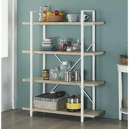 Homissue 4-Shelf Bookcases Modern Style Bookshelf, Light Oak
