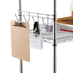 """Alera Hook Bars For Wire Shelving  Four Hooks  18"""" Deep  Sil"""