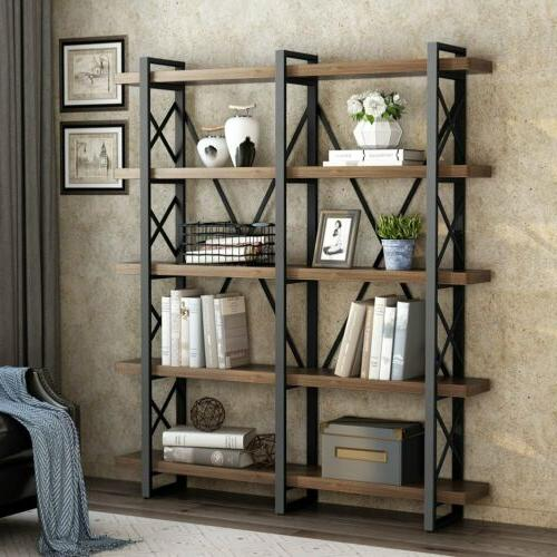 LITTLE TREE Wood 3/4/5Tier Bookcase Home Multifuction with O