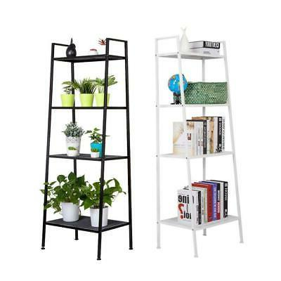 4 tier durable bookcase bookshelf leaning wall
