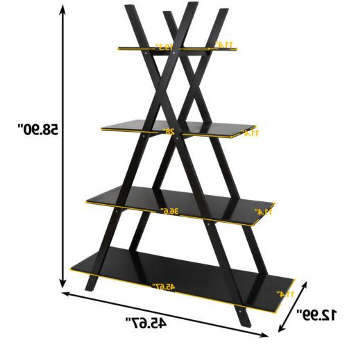 """Convenience 4 Tier Concepts Oxford """"A"""" Frame Bookshelf in Es"""