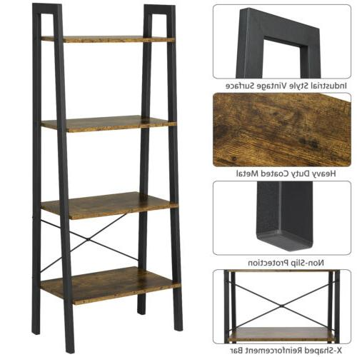 4-Tier Rack Leaning Wall Shelving