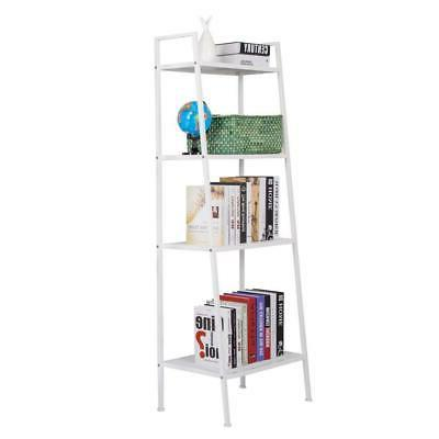 4 tier leaning ladder shelf shelving bookshelf