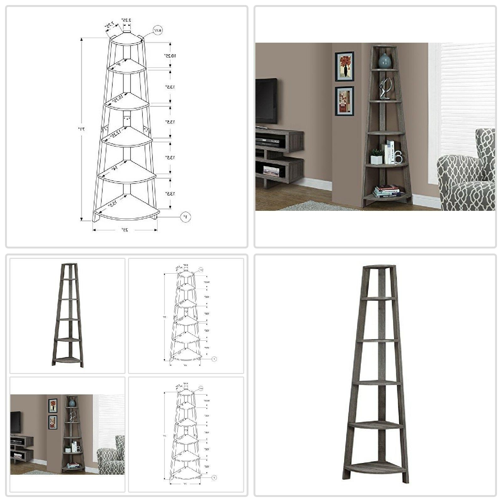 5 Tier Bookcase Leaning Wall Ladder