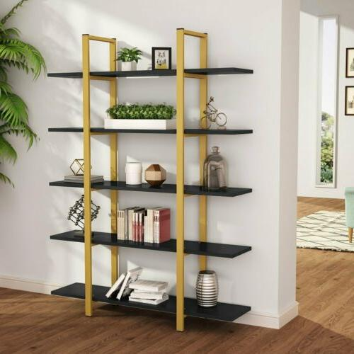 New 5-Tier Large Industrial Style Bookcase