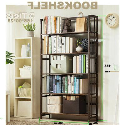 5 Tier Open Storage Bookcase Display Home