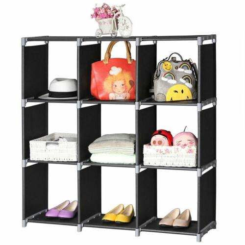 Multi Shelf Bookcase Bookshelf Cube Home Closet