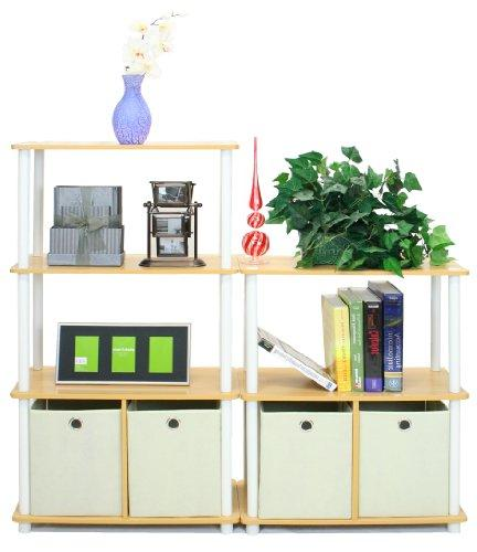 Furinno Green Multipurpose Shelving with Finish