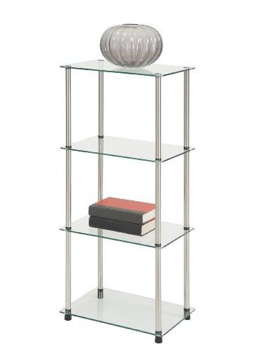 Convenience Concepts Designs2Go 4-Tier Glass Clear Glass
