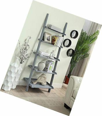 Convenience American Herita Bookshelf Ladder, Gray