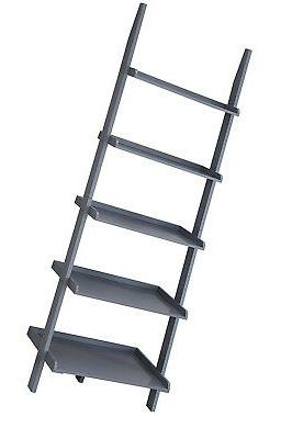 american herita bookshelf ladder gray