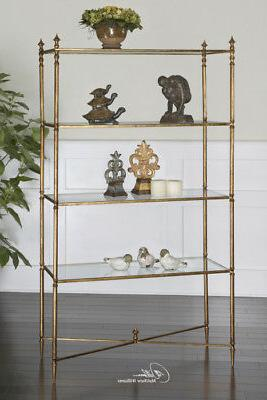 Barstow Gold Glass Display Contemporary