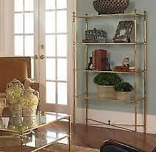 barstow gold iron and glass 4 shelf