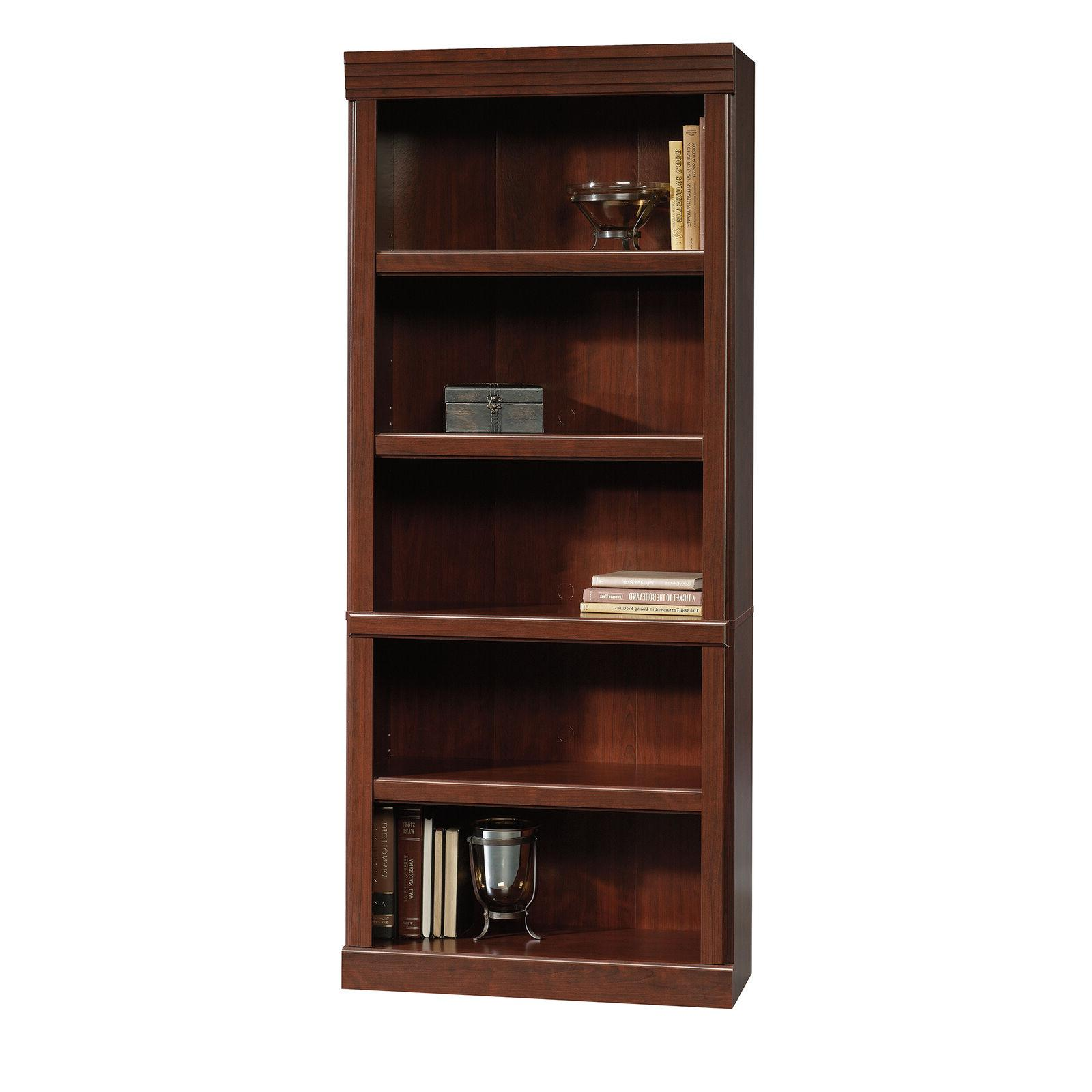 heritage hill 5 shelf library wood bookcase