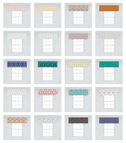 Ambesonne Valance Curtain for Kitchen Bedroom in