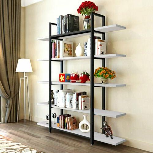 New Tribesigns 5-Tier Bookshelf Large Style Bookcase