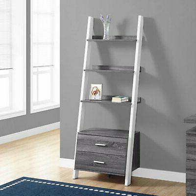 Monarch Specialties Ladder with Storage Drawers