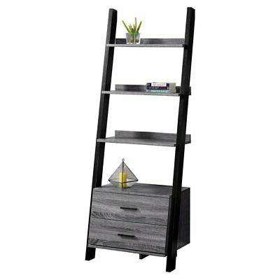 ladder bookcase with storage drawers