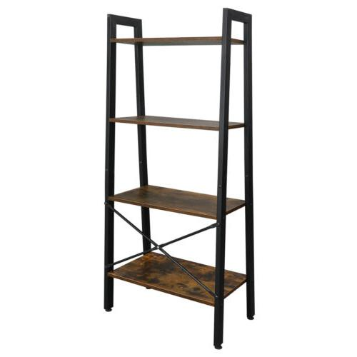 Ladder Shelf 4 Tier Vintage Bookshelf Bookcase Plant Flower