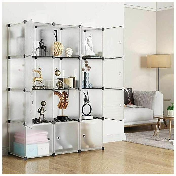large bookcase modern tall display cube shelves